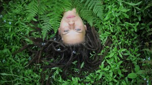Nature Blue Eyes Women Dreadlocks Lying Down 2048x1365 Wallpaper