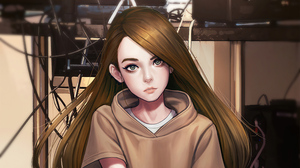 Girl Brown Hair 3840x2160 wallpaper