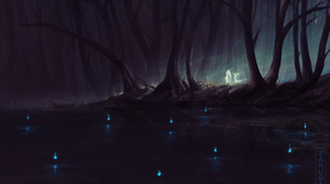 Forest Ghost 1900x1298 wallpaper