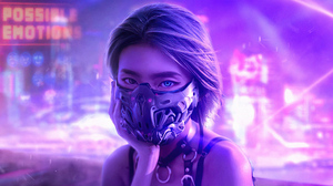 Cyberpunk Futuristic Girl 3840x2160 wallpaper