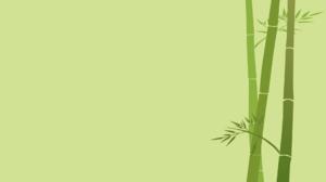 Green Background Bamboo Minimalism Simple Background Artwork Plants 1920x1080 Wallpaper