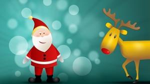 Christmas Santa Reindeer 2560x1600 Wallpaper