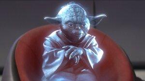 Hologram Yoda 1920x1080 Wallpaper