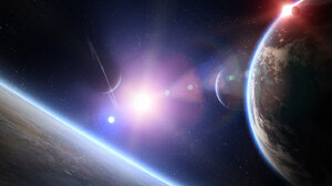 Sci Fi Planets 1600x800 Wallpaper