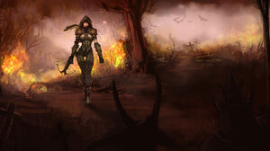 Demon Hunter Diablo Iii Diablo Iii 1920x1200 Wallpaper