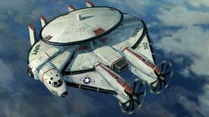 Artwork Science Fiction Vehicle Spaceship United States Navy Millenium Falcon 3840x2381 wallpaper
