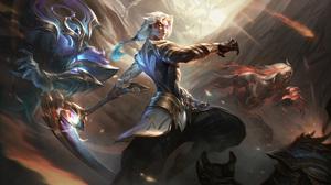 GZG 4K League Of Legends Riot Games Digital Art Dawnbringer Nightbringer Dawnbringer Nightbringer Ka 7680x4320 Wallpaper