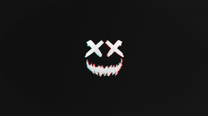 Glitch Art Minimalism Smile Vector Dark Teeth Logo Photoshop 1920x1080 Wallpaper