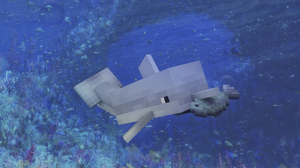 Dolphin Minecraft Water 1920x1080 wallpaper