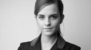 Actress Black Amp White Emma Watson English Face Girl 4096x2304 Wallpaper