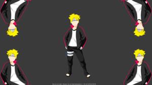 Blonde Boruto Anime Boruto Uzumaki Boruto Naruto Next Generations Boy Kaleidoscope Minimalist 4000x2250 Wallpaper