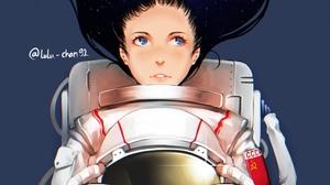 Girl Blue Eyes Astronaut 2480x1860 Wallpaper