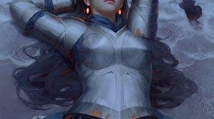 GUWEiZ Digital Art Artwork Drawing Armor Knight 2000x2188 Wallpaper