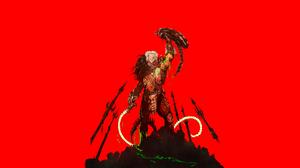 Chun Lo Illustration Artwork Digital Art Simple Background Minimalism Predator Creature Predator Mov 1920x1080 Wallpaper