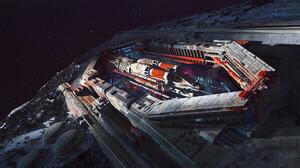Artwork Science Fiction Space Planet Spacestation 1920x1080 Wallpaper