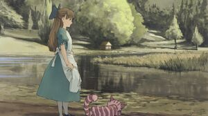 Alice Alice In Wonderland Cheshire Cat Nature River 2400x1800 Wallpaper