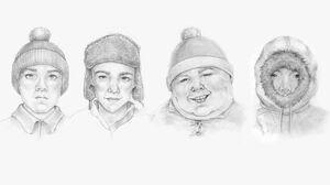 Eric Cartman Stan Marsh Kyle Broflovski Kenny McCormick 1280x1024 Wallpaper