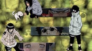 Naruto Shippuuden Inuzuka Kiba Hyuuga Hinata Aburame Shino 1024x768 Wallpaper
