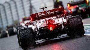 Alfa Romeo Alfa Romeo C39 Water Red Cars Race Tracks Racing Car Vehicle Sport Sports Wet Asphalt 2000x1333 Wallpaper