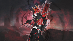 Anime Girls Anime Fantasy Art Fantasy Girl Sword Girls With Swords Weapon Tongues Tongue Out Horns 3840x2160 Wallpaper