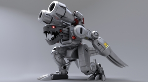 Digimon Machinedramon Mugendramon ArtStation 3D Graphics 8000x4500 wallpaper