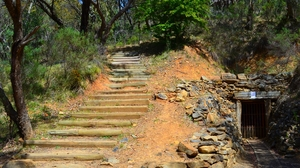 Australia Bald Hill Mine Bush Rock Steps 1920x1200 Wallpaper