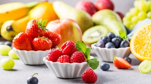 Berry Blueberry Fruit Raspberry Still Life Strawberry 5760x3840 Wallpaper