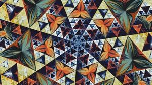 Artistic Digital Art Fractal Kaleidoscope Pattern Symmetry Triangle 3125x2733 Wallpaper