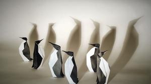 Origami Penguin 2500x1680 Wallpaper