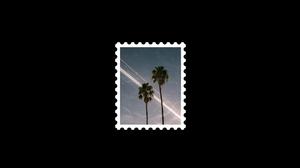 Postcard Graphic Design Photoshop Digital Art Black White 2048x1080 Wallpaper