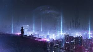 City Planet 2146x1080 Wallpaper