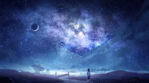 Boy Child Cat Night Whale Sky Stars 2600x1600 Wallpaper