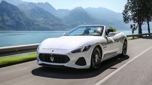 Cabriolet Car Grand Tourer Maserati Maserati Grancabrio Supercar Vehicle White Car 4096x2731 Wallpaper