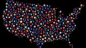 Artistic Map Star Red White Blue Sparkles 1920x1158 Wallpaper