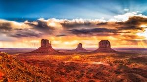 Cloud Desert Horizon Landscape Monument Valley Sky Usa 2048x1152 Wallpaper