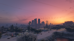 Grand Theft Auto V Los Angeles Water Sunset Snow 3840x2160 Wallpaper