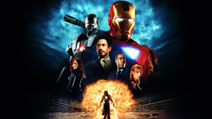 Black Widow Don Cheadle Gwyneth Paltrow Iron Man Ivan Vanko Mickey Rourke Natasha Romanoff Pepper Po 1920x1080 Wallpaper