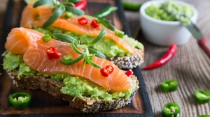 Bread Fish Salmon Toast 5760x3840 wallpaper