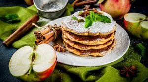 Apple Cinnamon Pancake Still Life 7360x4912 Wallpaper