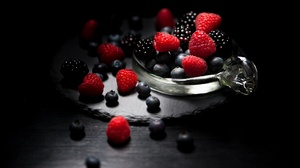Berry Blackberry Blueberry Fruit Raspberry Still Life 3156x2104 Wallpaper