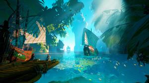 Tyler Smith Digital Art Tropical Harbor Indonesia Ship Boat Pier Fish Tropical Fish 3840x2160 Wallpaper