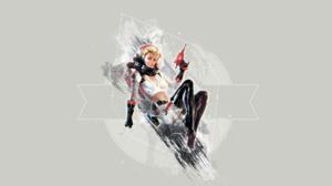 Nuka Cola Fallout White Grey Blaster Science Helmet Backpacks Vinyl Boots Gun Blonde Poster Video Ga 3840x2160 Wallpaper
