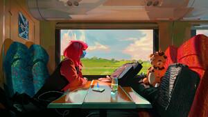 Train Window 1920x1081 Wallpaper