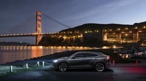 Lamborghini Golden Gate Car Bridge Silver Car Suv Luxury Car Night 3543x2363 Wallpaper