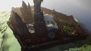 Minecraft Mojang Video Game Castle Building Skyscraper 4000x2250 Wallpaper
