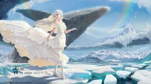 Anime Girls Kamisato Ayaka Genshin Impact Genshin Impact Wboss 2370x1000 wallpaper