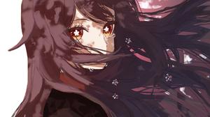 Genshin Impact Hu Tao Genshin Impact Anime Anime Girls Hair In Face Long Hair Dark Hair Windy 2048x1564 Wallpaper