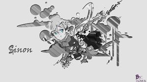 Anime Girls Sword Art Online Asada Shino 1920x1080 Wallpaper