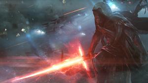 Kylo Ren Lightsaber Star Wars 3300x1650 Wallpaper