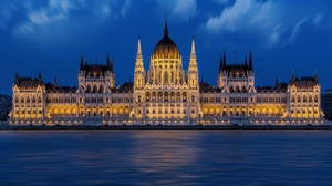Hungarian Parliament Building Night 2000x1333 Wallpaper